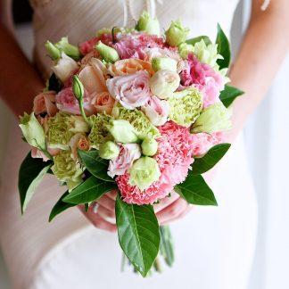 bruidsboeket roze